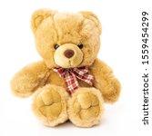 Fluffy Teddy Bear Isolated On...