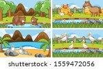 background scenes of animals in ... | Shutterstock .eps vector #1559472056