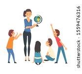 female teacher teaching... | Shutterstock .eps vector #1559476316