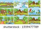 background scenes of animals in ... | Shutterstock .eps vector #1559477789