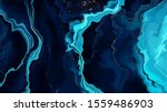blue marble and gold abstract... | Shutterstock .eps vector #1559486903
