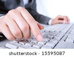 macro image of human hand with...   Shutterstock . vector #15595087