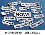 concept for procrastination and ... | Shutterstock . vector #155952698