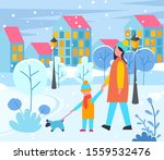 mother and child walking with...   Shutterstock .eps vector #1559532476