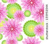 fun seamless flower pattern in...