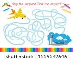 help the small plane find the... | Shutterstock .eps vector #1559542646