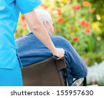young female doctor pushing and ... | Shutterstock . vector #155957630