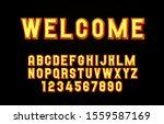 welcome light font lamp symbol  ... | Shutterstock .eps vector #1559587169