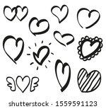 heart on isolated white... | Shutterstock .eps vector #1559591123