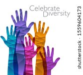 celebrate diversity is the... | Shutterstock .eps vector #1559604173