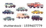 cars and drivers set  business... | Shutterstock .eps vector #1559607779