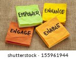 empower  enhance  enable and... | Shutterstock . vector #155961944