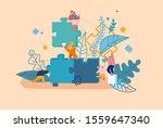 team  partnership and teamwork... | Shutterstock .eps vector #1559647340