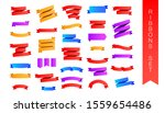 flat lay multi colored ribbon... | Shutterstock .eps vector #1559654486
