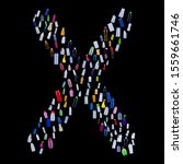 letter x made of plastic waste... | Shutterstock . vector #1559661746