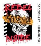 Rebel Inside Tiger And Skull...