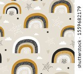 childish seamless pattern with... | Shutterstock .eps vector #1559682179