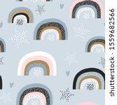 childish seamless pattern with... | Shutterstock .eps vector #1559682566