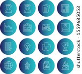 creative universal icon set of...   Shutterstock .eps vector #1559685053