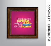 people say you can't live... | Shutterstock . vector #155969270