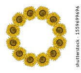 vector floral wreath with...   Shutterstock .eps vector #1559699696