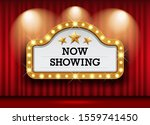 cinema theater and sign light... | Shutterstock .eps vector #1559741450