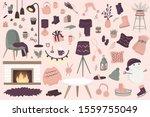 scandinavian interior home... | Shutterstock .eps vector #1559755049