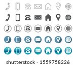 a set of contact information... | Shutterstock .eps vector #1559758226