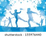 abstract winter snowball fight.  | Shutterstock .eps vector #155976440