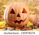 Halloween Pumpkins And Autumn...