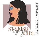 fashion woman profile portrait  ...   Shutterstock .eps vector #1559794139