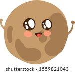 planet pluto  illustration ...   Shutterstock .eps vector #1559821043