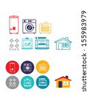 gas machines and home icon   Shutterstock . vector #155983979