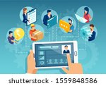 online business management... | Shutterstock .eps vector #1559848586