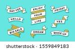 ribbon banner. set of white... | Shutterstock .eps vector #1559849183