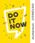 do it. banner with text do it... | Shutterstock .eps vector #1559851343