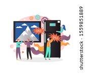 household equipment sale vector ... | Shutterstock .eps vector #1559851889