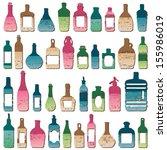 various scratched vintage... | Shutterstock .eps vector #155986019