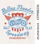 rolling thunder vintage... | Shutterstock .eps vector #155988236