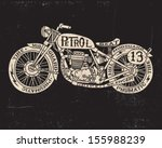 text filled vintage motorcycle
