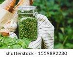 Homemade Pesto In A Glass Jar...