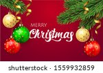 merry christmas background with ... | Shutterstock .eps vector #1559932859