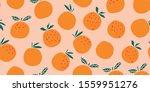 stylish oranges fruits seamless ... | Shutterstock .eps vector #1559951276