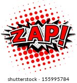 zap    comic speech bubble ... | Shutterstock .eps vector #155995784