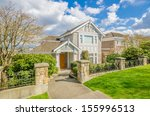 luxury house at sunny day in... | Shutterstock . vector #155996513