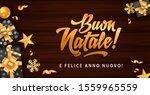 buon natale merry christmas in... | Shutterstock .eps vector #1559965559