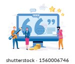 feedback and customers opinion... | Shutterstock .eps vector #1560006746
