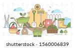gardening outline concept...   Shutterstock .eps vector #1560006839