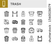 Trash Icon Set. Collection Of...
