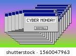 cyber monday. retro 80's  90's...   Shutterstock .eps vector #1560047963